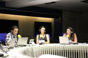 De izquierda a derecha: Pedro Blanco (Hora 25), Fátima Brañas (AFEM) y Carmen Esbrí (MEDSAP)