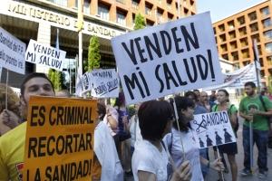 Concentración ante el Mº de Sanidad EFE / Fernando Alvarado