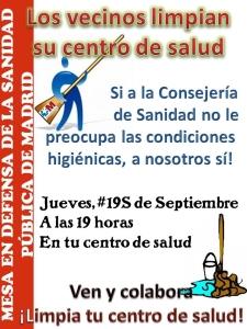 19.09.13 ¡Limpiémos nuestros Centros de Salud!