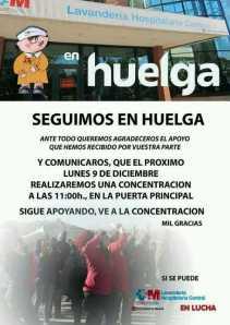 CARTEL_Apoyo Huelga_Concentración Lunes 09-12-2013
