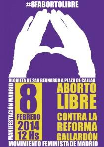 Cartel_Movimiento Feminista Madrid_8F_2014-02