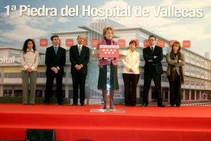 Acto de Esperanza Aguirre Primera piedra Hospital de Vallecas