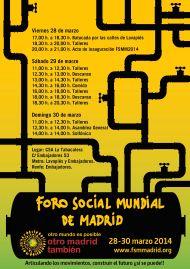 Cartel_Foro Social Mundial 2014
