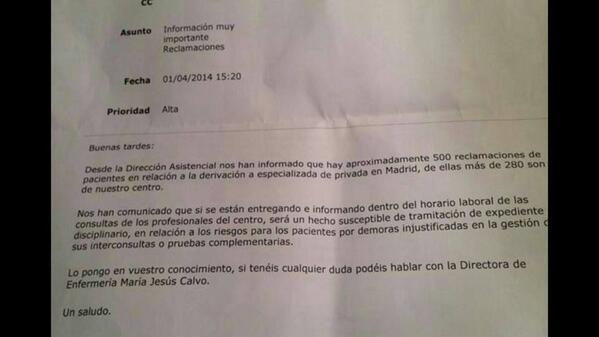 Derivaciones_Expediente disciplinario informar horario laboral