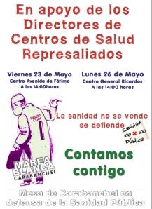 Centros de Salud_Cartel Apoyo Directores Represaliados_2014-05