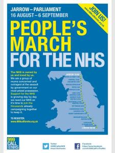 Marcha en defensa del National Health Service (NHS)
