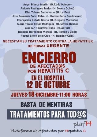 Cartel_Encierro Afectados Hepatitis C_Hospital 12 Octubre_2014-12-18