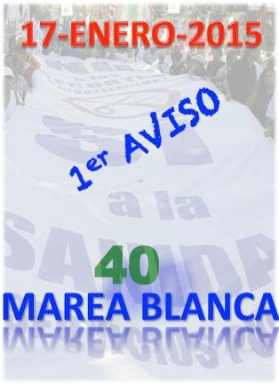 AVISO 40 MAREA BLANCA