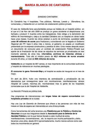 MAREA BLANCA DE CANTABRIA