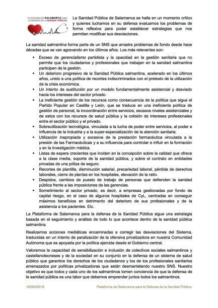 PDSP para Marea Blanca Madrid