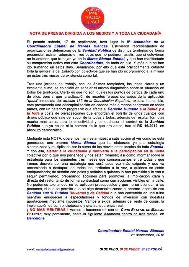 NOTA DE PRENSA II_ ASAMBLEA ESTATAL 17-09-16