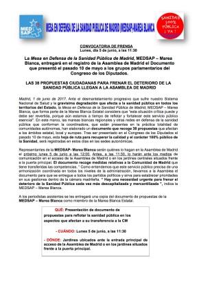 NOTA DE PRENSA2 PARA ASAMBLEA DE MADRID
