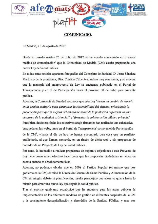 COMUNICADO1 NO NUEVA LEY DE SALUD (1)