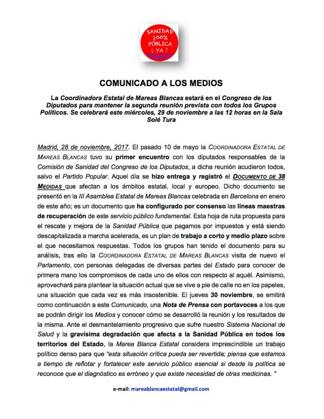 COMUNICADO A MEDIOS 2ª REUNIÓN CD