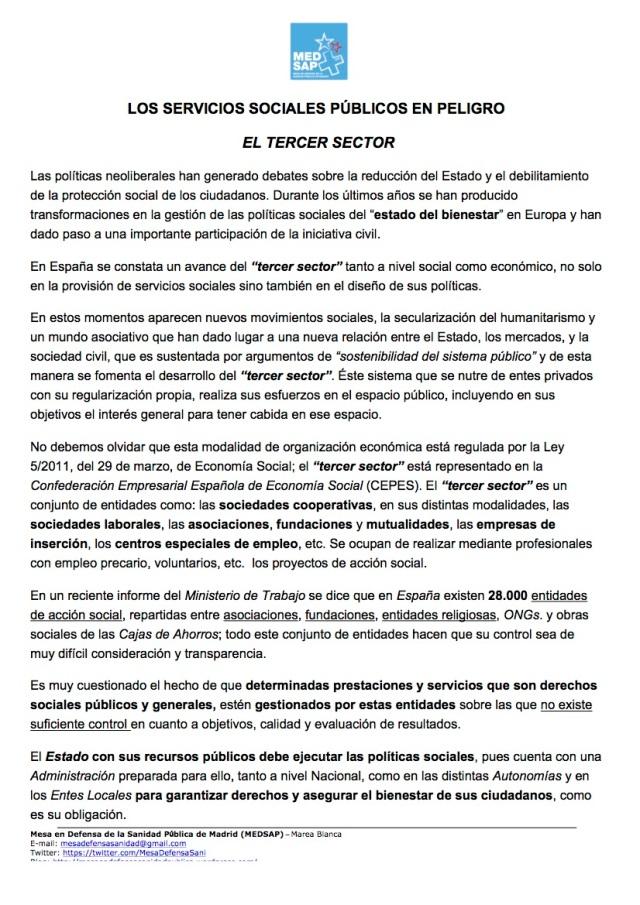SS SOCIALES EN PELIGRO- EL 3ER SECTOR