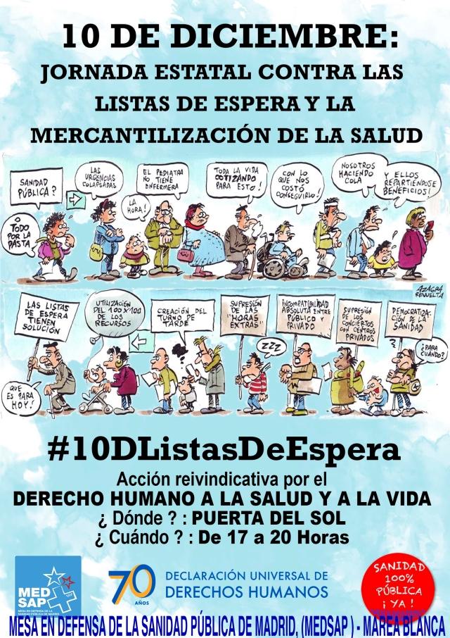 10.2 DE DICIEMBRE, LISTAS DE ESPERA EN MADRID