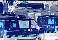 ambulancia-interior azul