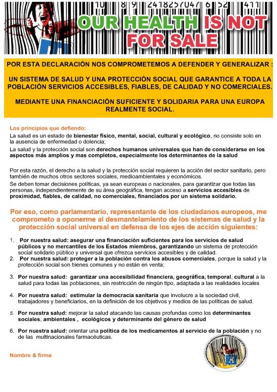 DECLARACIÓN POLÍTICA ES