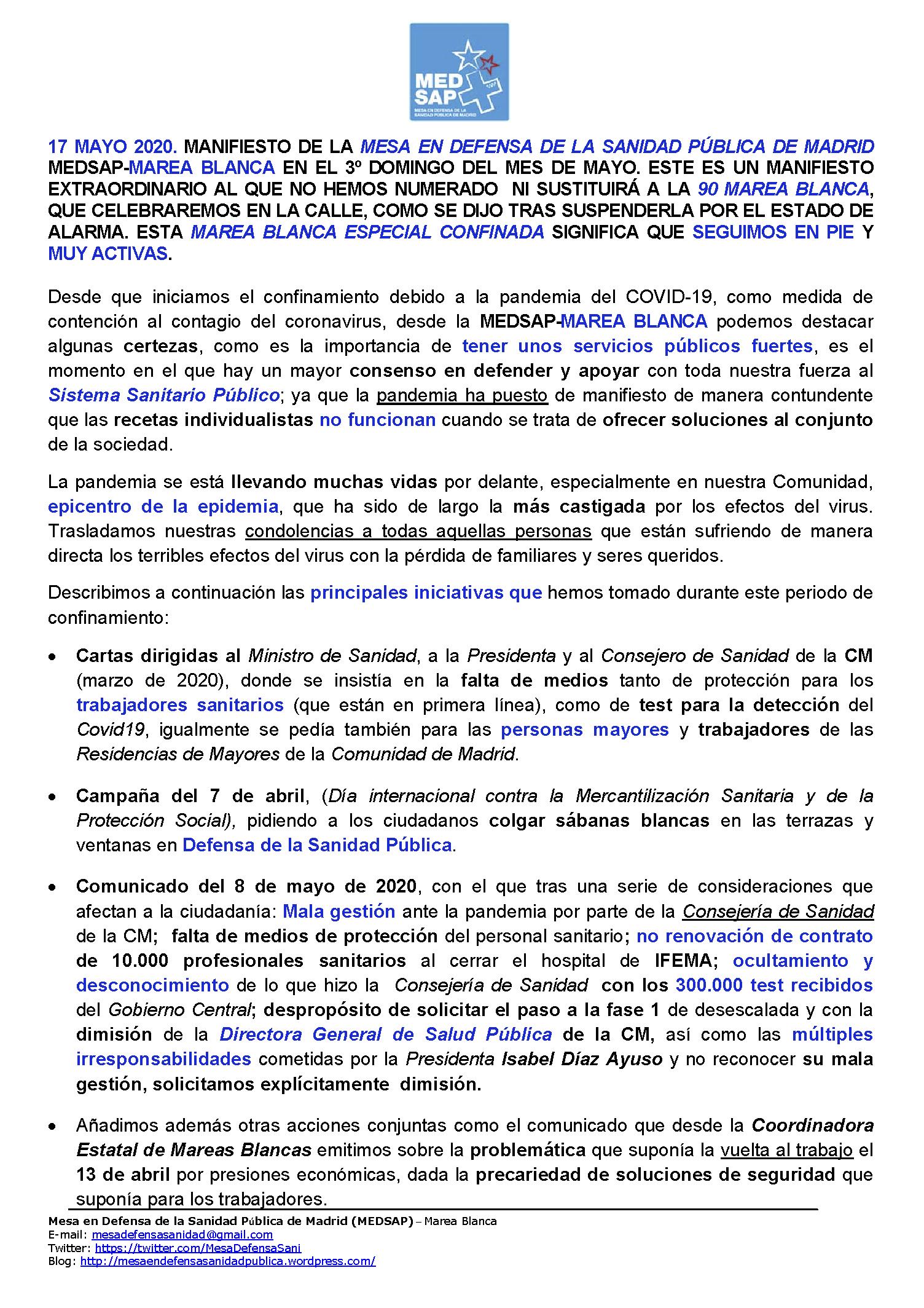 ULTIMO_MANIFIESTOp1 MAREA BLANCA ESPECIAL EN CONFINAMIENTO